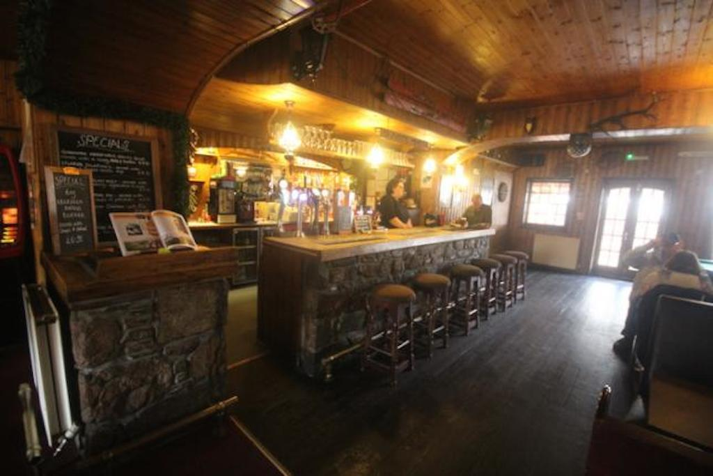 bar with serving area