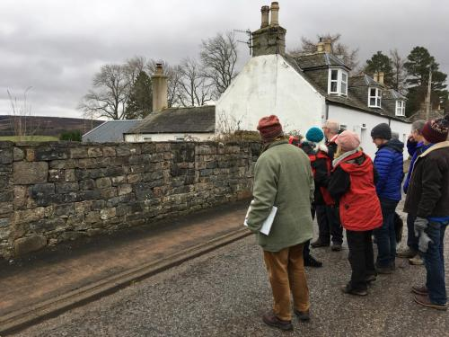 Community cultural heritage Tomintoul walk - when a wall is more than a wall