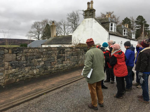 17 12 05 Community cultural heritage Tomintoul walk - when a wall is more than a wall
